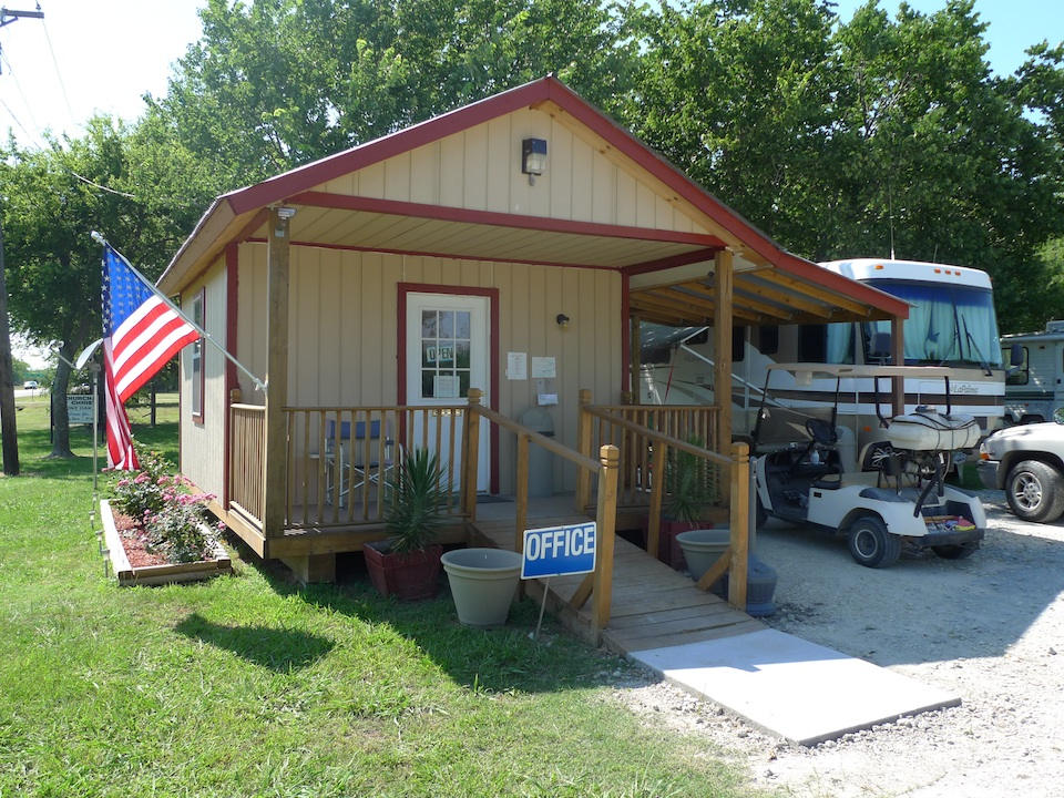Main office, east texas, rv park, greenville, texas, campground
